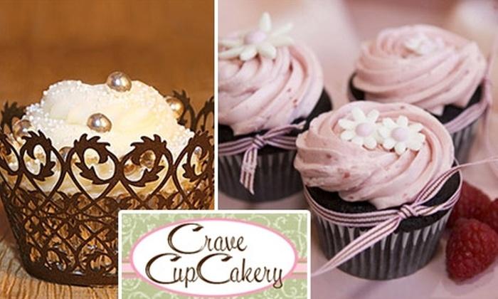 Crave CupCakery  - Lakes At Heron Cove Condominium: $12 for a Dozen Custom Cupcakes at Crave CupCakery