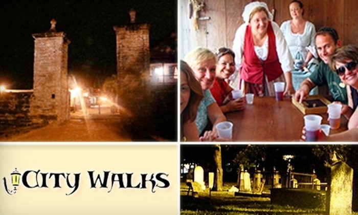 St. Augustine City Walks - Spanish Quarter: $7 Historic Walking Tour or $9 Creepy Pub Crawl from St. Augustine City Walks