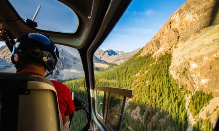 Helicopter Tour and Wilderness Hike for Two or Four from Rockies Heli Tours Canada Inc. (Up to 46% Off)
