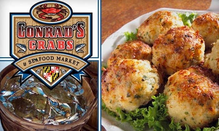 Conrad's Crabs - Parkville: $10 for $20 Worth of Locally Caught Seafood at Conrad's Crabs and Seafood Market