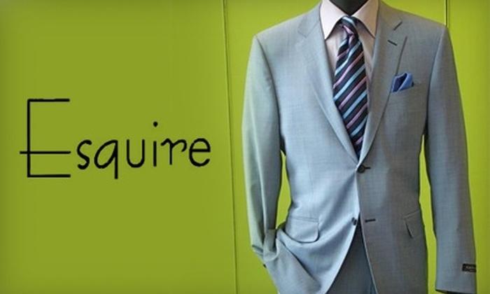 Esquire - Astoria: $40 for $100 Worth of Men's Clothing at Esquire