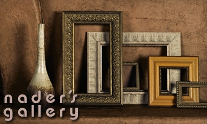 Nader's Gallery - Broadmoor, Anderson Island, Shreve Isle: $50 for $100 Worth of Custom Framing at Nader's Gallery