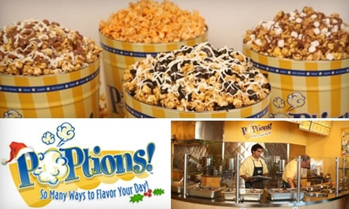 Poptions: $15 for $30 Worth of Gourmet Popcorn from POPtions!