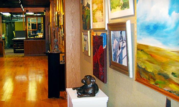 "Center Framing & Art - West Hartford: Custom 8.5""x11"" Wood Diploma Framing or $40 for $100 Worth of Custom Framing at Center Framing & Art"