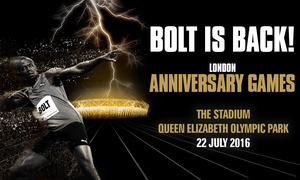 British Athletics: London Anniversary Games ft Usain Bolt: Tickets For Adult (£20) or Child (£12) - Olympic Park: 22 July (Up to 25% Off)