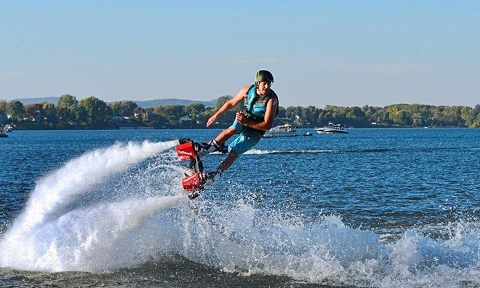 Flyboard Xtreme - Ottawa: Flyboarding or Hoverboarding with Video and T-shirt at Flyboard Xtreme (Up to 61% Off)