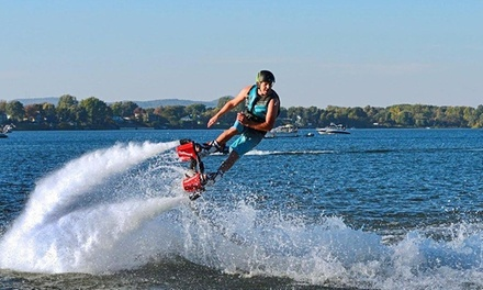 Flyboarding or Hoverboarding with Video and T-shirt at Flyboard Xtreme (Up to 61% Off)