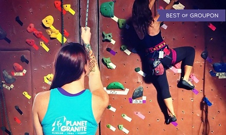 Up to 58% Off Climbing Package at Planet Granite