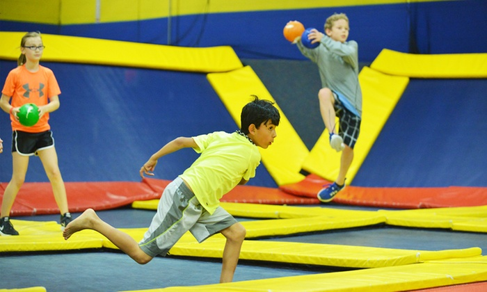 Sky High Sports - Charlotte - Pineville: Trampoline Jump Time at Sky High Sports - Charlotte (Up to 50% Off). Two Options Available.