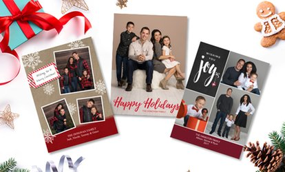 "image for Professional Photo Session with 24, 36, or 60 5""x7"" Premium Holiday Cards at JCPenney Portraits (Up to 81% Off)"