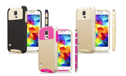 3D Luxe Gold Collection Dual-Layer Hybrid Case for Samsung Galaxy S5, S4, and Note 3