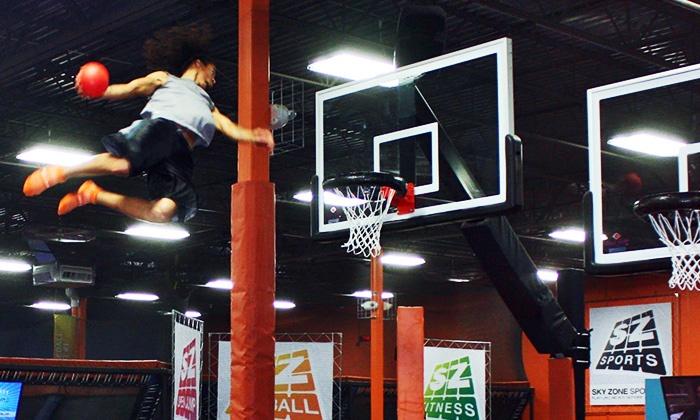 Sky Zone Indoor Trampoline Park - Rocklin: $12 for Two 60-Minute Jump Passes at Sky Zone Indoor Trampoline Park ($24 Value)