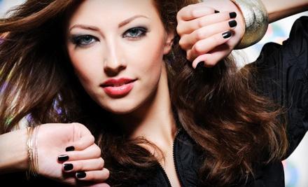 1 Shellac Manicure with Spa Pedicure (a $50 value) - Vanity Salon in Brunswick
