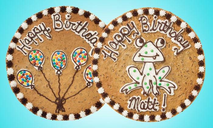 "Great American Cookies - Multiple Locations: One or Two 12"" Cookie Cakes with Artwork at Great American Cookies (Up to 50% Off)"