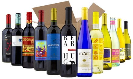 Six or 12 Bottles of Red, White, or Mixed Wine from Wine Insiders ( 78% Off )