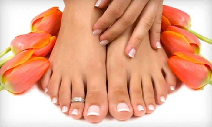 Hello Gorgeous Salon and Spa - Conway: $29 for Spa Manicure and Deluxe Pedicure at Hello Gorgeous Salon and Day Spa in Conway ($75 Value)