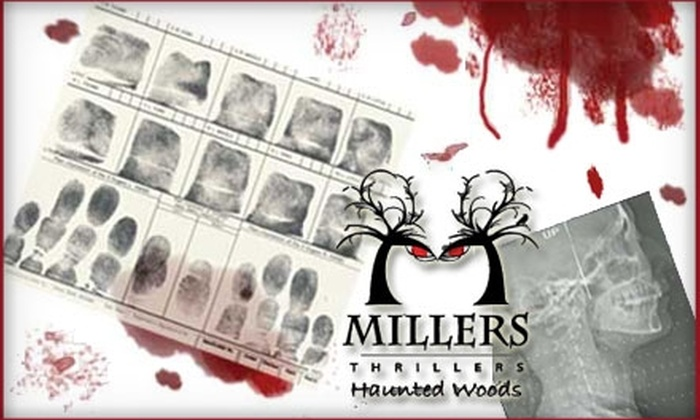 Millers Thrillers Haunted Woods - 11: $5 Admission to Millers Thrillers Haunted Woods ($10 Value)