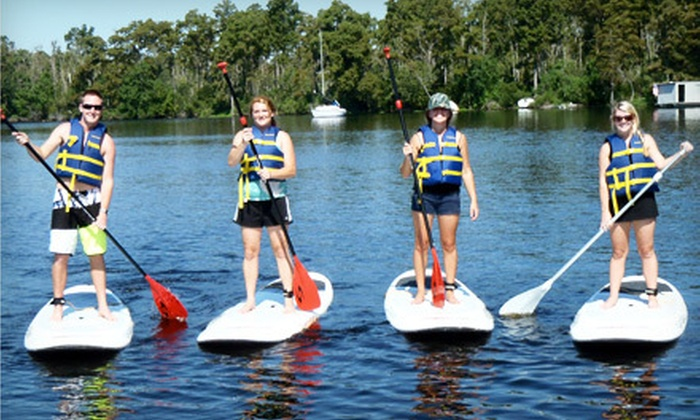 NOLA Paddleboards' - Multiple Locations: $80 for One-Hour Standup-Paddleboarding Lesson for Four People from NOLA Paddleboards ($160 Value)