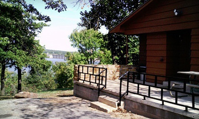 Keystone State Park - Sand Springs, OK: $40 for a One-Night Cabin Stay for Up to Four at Keystone State Park (Up to $80 Value)