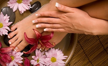 Polished Nail Bar & Spa: Intense-Moisture Mani-Pedi and a 15-Minute Chair Massage - Polished Nail Bar & Spa in Wolcott