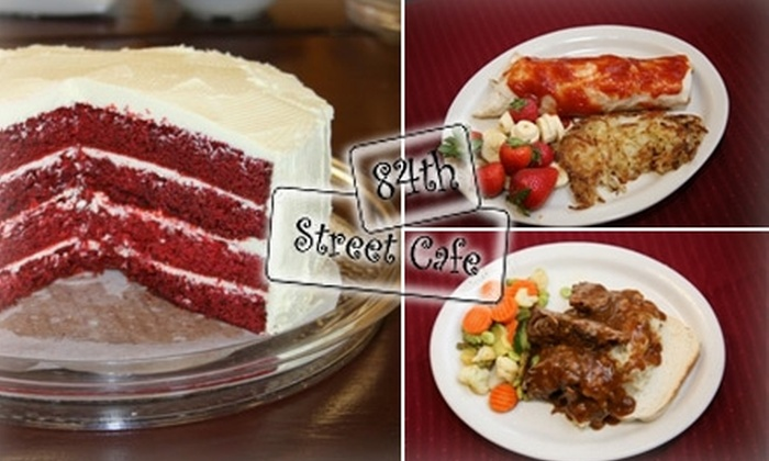 84th Street Cafe - Papillion: $15 for $30 Worth of Fresh, Home-Style Fare and Drinks at 84th Street Cafe