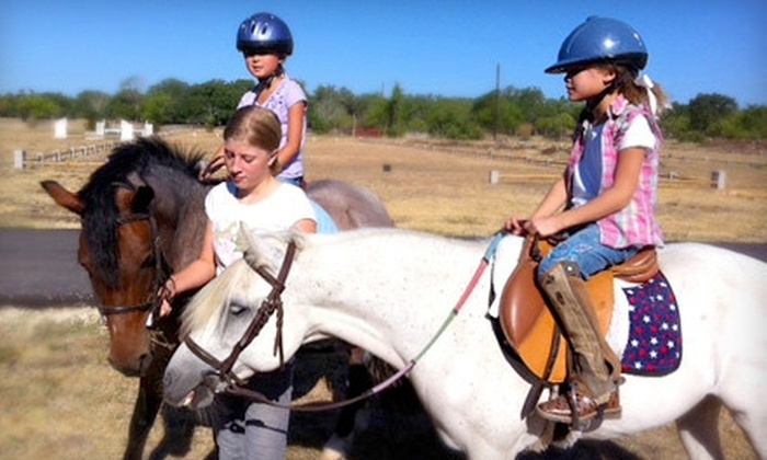 Bel Canto Farms - Wimberley: Kids' Summer Horseback-Riding Camp for One or Two, or Lesson for Two at Bel Canto Farms in Wimberley (Up to 68% Off)