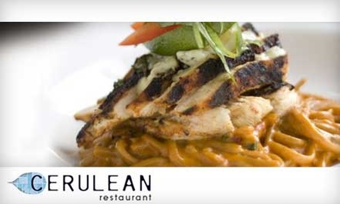 Cerulean Restaurant - Winona Lake: $20 for $40 Worth of Sushi, Mediterranean Fusion, and More at Cerulean Restaurant (or $10 for $20 Worth of Lunch)