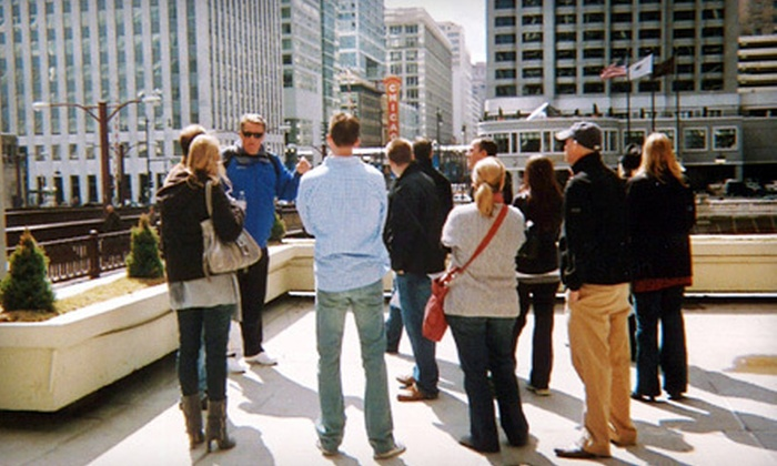 """Chicago's Finest River Walk Tour - The Loop: History, """"Borgers & Brews"""", or Brunch Walking Tour for Two from Chicago's Finest River Walk Tour (Half Off)"""