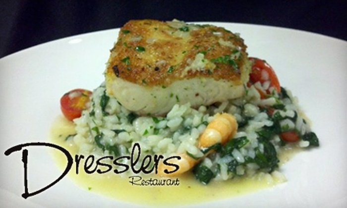 Dressler's - Multiple Locations: $24 for $50 Worth of Upscale American Cuisine at Dressler's