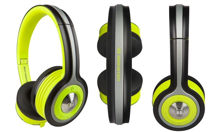 99070fe54ed Monster iSport Freedom On-Ear Wireless Bluetooth Headphones | Groupon