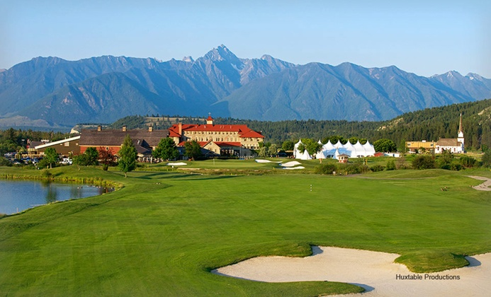 Resort with Casino amid Canadian Rockies