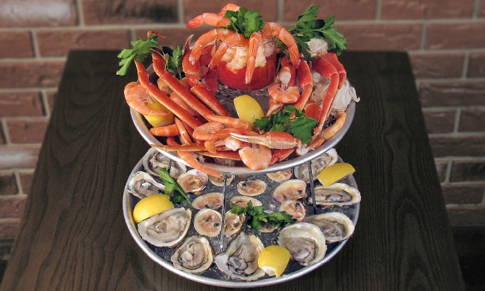 Crab Spot Restaurant - Park Slope: Snow Queene Seafood Tower with Drinks for Two at Crab Spot Restaurant (Up to 47% Off). Two Options Available.