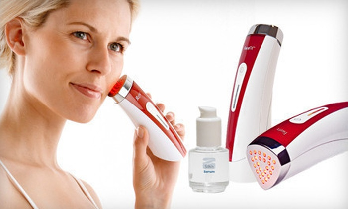 Silk'N FaceFX Anti-Aging Light Therapy Tool: $149 for a Silk'n FaceFX Anti-Aging Handheld LED Light and Hydrator Serum ($378 List Price)