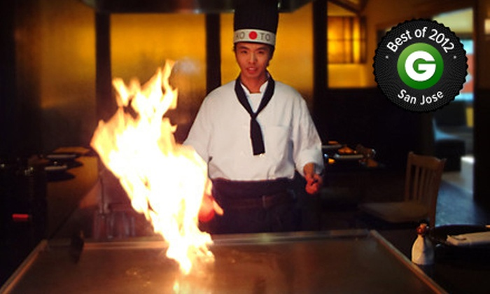 Koto Teppanyaki & Sushi - Redwood City: Japanese Teppanyaki Meal for Two or $ 10 for $ 20 Worth of Japanese Cuisine at Koto Teppanyaki & Sushi