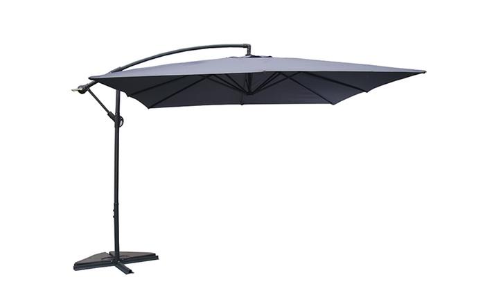 Salon de jardin panama en r sine tress e seul ou avec for Salon de jardin avec parasol