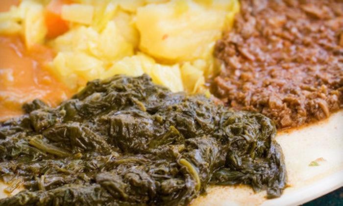 Fasika Ethiopian Restaurant - Fasika Ethiopian Restaurant: Fasika Ethiopian Restaurant in Somerville (Up to 60% Off). Two Options Available.