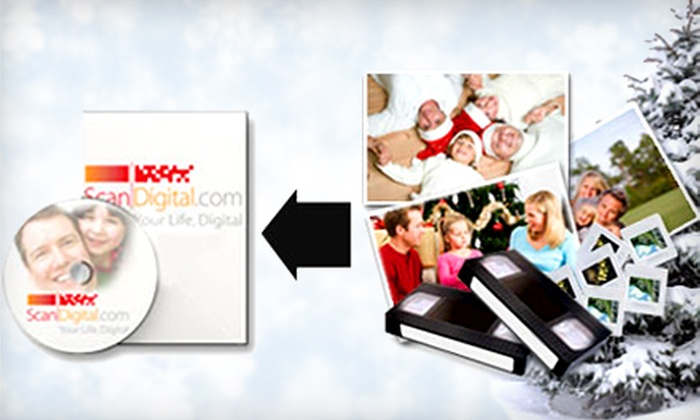 ScanDigital: Photo- and Video-Digitization Services from ScanDigital (Up to 62% Off). Two Options Available. Not Redeemable Until 12/28.