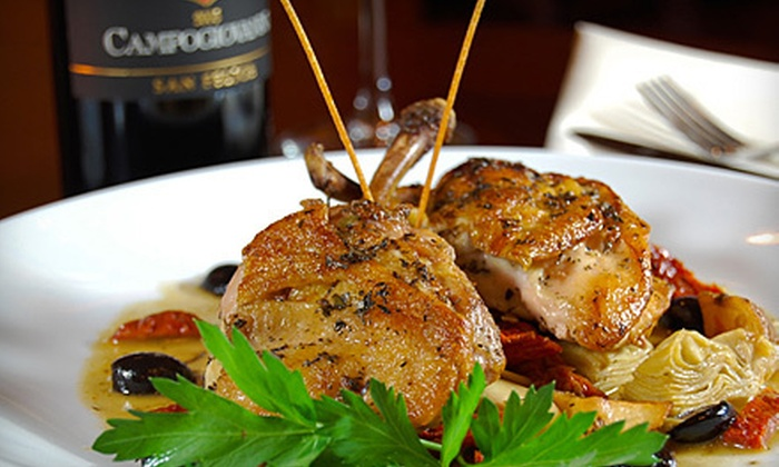 Route 100 Wine Bar & Grill - Northeast Yonkers: Upscale American Cuisine for Two or Four at Route 100 Wine Bar & Grill in Yonkers (Up to 58% Off)