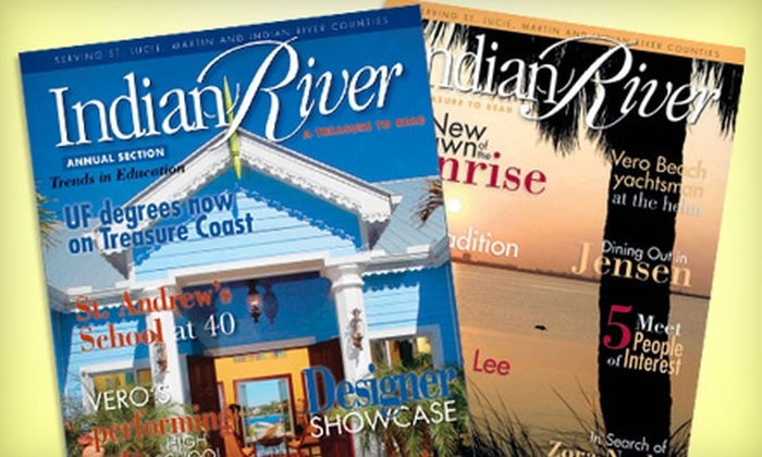 "Indian River Magazine: $10 for a One-Year Subscription to ""Indian River"" Magazine"