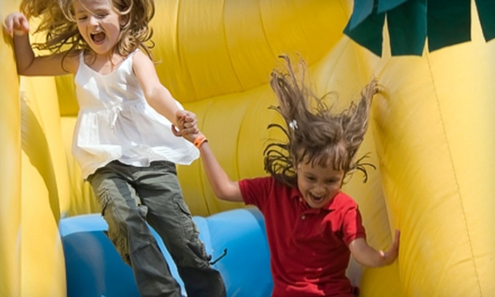 Extreme Fun's Inflatable Playland - Balcones Heights: All-Day Bounce Passes at Extreme Fun's Inflatable Playland