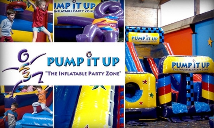 Pump It Up Inflatable Party Zone - Multiple Locations: $24 for Three Open-Bounce Sessions at Pump It Up Inflatable Party Zone in Plainview or Bohemia (Up to a $55.85 Value)
