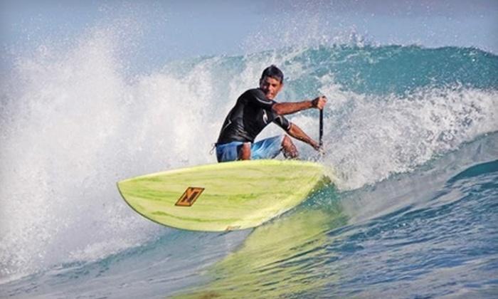 Half Moon Bay Kayak Co. - South Coastside: $10 for One-Hour Paddleboard Rental from Half Moon Bay Kayak ($20 Value)