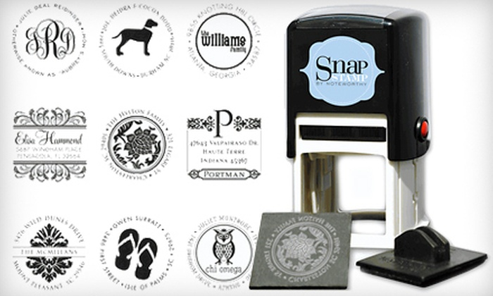 Personalized Self-Inking Stamper: $25 for a Self-Inking Stamper with Personalized Stamp Face from InvitationBox.com ($49.99 Value)