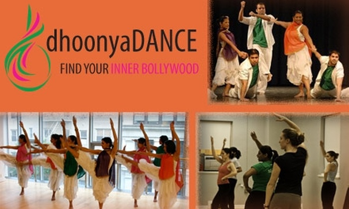 Dhoonya Dance - Multiple Locations: $30 for Any Four-Week Bollywood Dance Course at Dhoonya Dance ($60 Value)