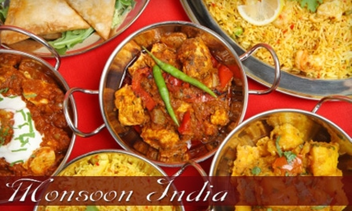 Monsoon India - Waikiki: $15 for $30 Worth of Authentic Indian Cuisine at Monsoon India