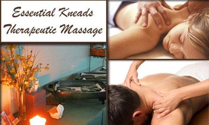 Essential Kneads Therapeutic Massage Center - Motorsports Industrial: $45 for an Herbal Body Wrap and Custom Massage at Essential Kneads Therapeutic Massage Center