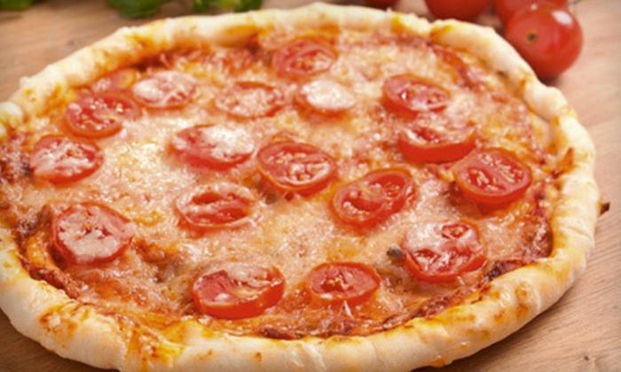 David's Oak Cliff Pizza - Southwest Dallas: Pizza, Grinders, and Pasta at David's Oak Cliff Pizza (Half Off). Two Options Available.