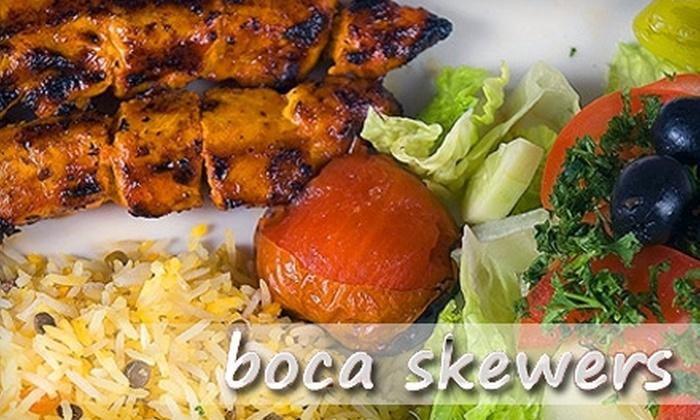 Boca Skewers - Kings Court: $10 for $20 Worth of Mediterranean Cuisine at Boca Skewers in Boca Raton