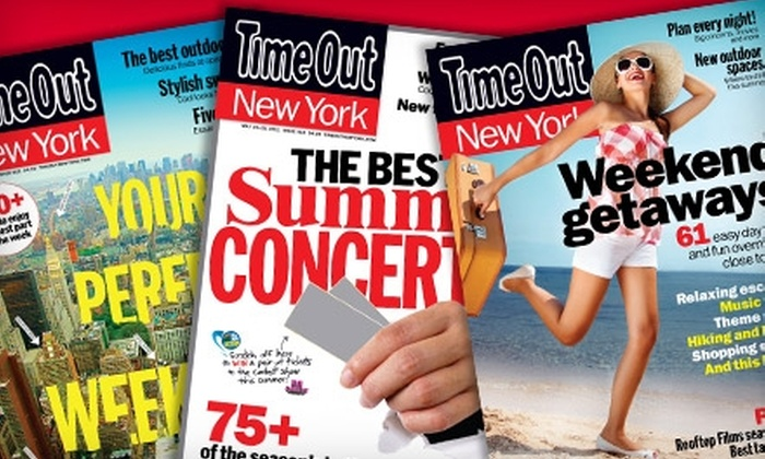 """Time Out New York"" Magazine  - New York: $12 for a One-Year Subscription (55 Issues) to ""Time Out New York"" Magazine ($19.99 Value)"