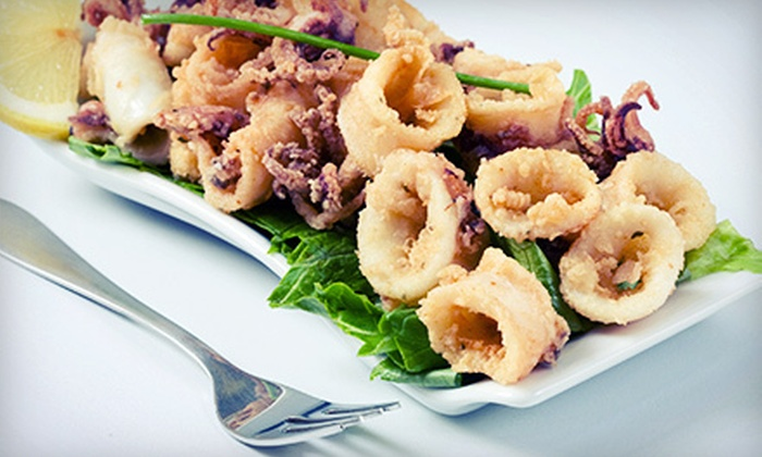 Tryst Food and Spirits - Ira: Seafood and Steak-House Cuisine for Dinner or Lunch at Tryst Food and Spirits (Half Off)